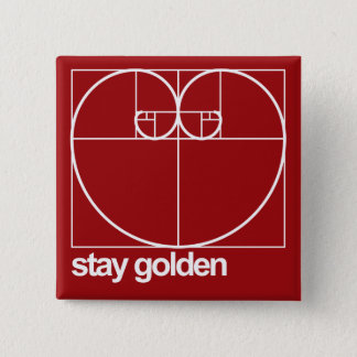 Stay Golden 15 Cm Square Badge