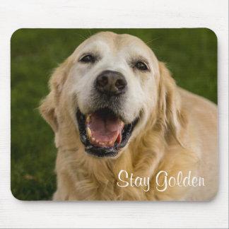 """""""Stay Golden"""" Golden Retriever Mousepad"""
