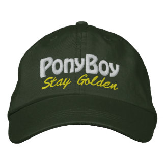 Stay Golden PonyBoy Embroidered Hat