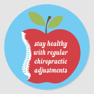 Stay Healthy (Apple) Chiropractic Stickers
