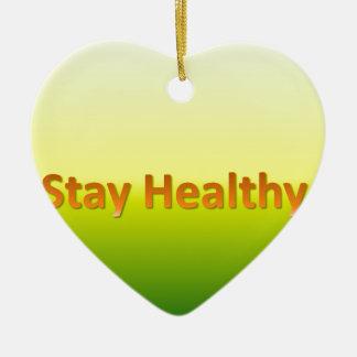stay healthy ceramic heart decoration