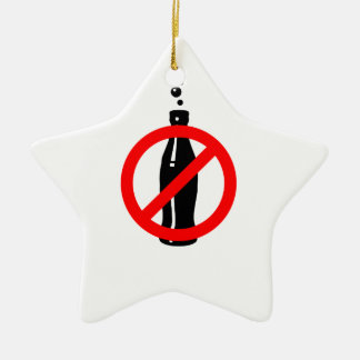 Stay Healthy No Black Soda Ceramic Star Decoration