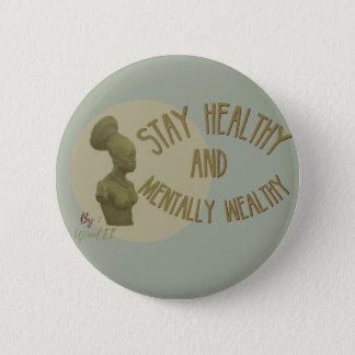 Stay healthy ocean blue button