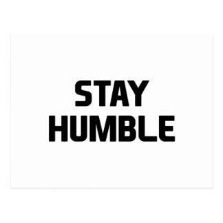 Stay Humble Postcard