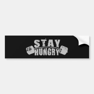 Stay Hungry - Bodybuilding Workout Motivational Bumper Sticker
