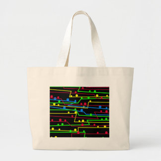 Stay in line large tote bag