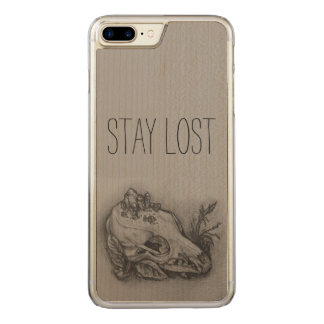 Stay Lost Skull Print Phone Carved iPhone 8 Plus/7 Plus Case