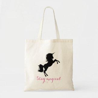 Stay magical message unicorn bag