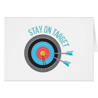 Stay On Target Card