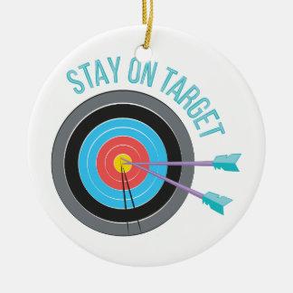 Stay On Target Round Ceramic Decoration