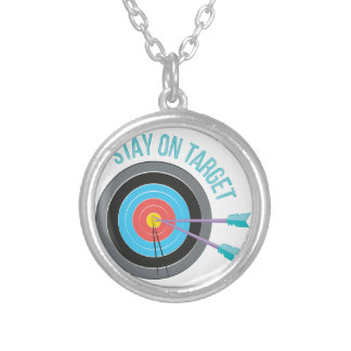 Stay On Target Silver Plated Necklace