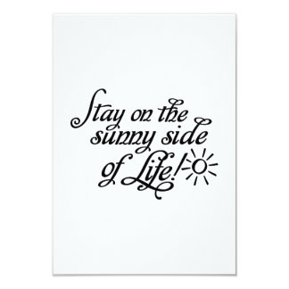 Stay on the sunny side of Life Personalized Invites
