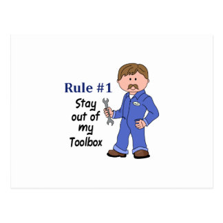 STAY OUT OF MY TOOLBOX POSTCARD