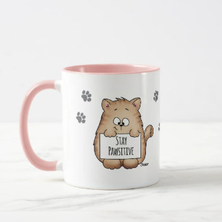 Stay Pawsitive - Cute Cat Lovers Coffee Mug