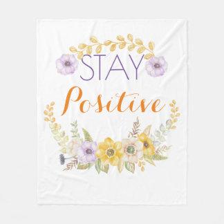 Stay Positive Floral Blanket