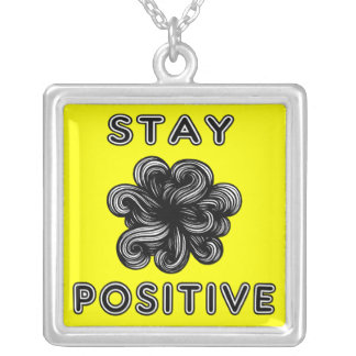 """Stay Positive"" Sterling Silver Necklace"