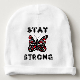 """""""Stay Strong"""" Baby Cotton Beanie Baby Beanie"""
