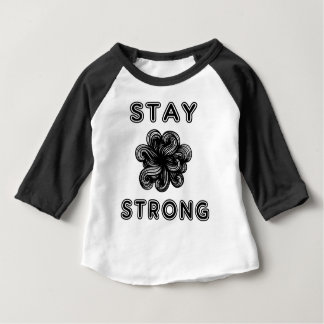 """Stay Strong"" Baby Raglan Shirt"