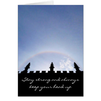 Stay Strong Inspirational Sun Halo Over Oxford Card
