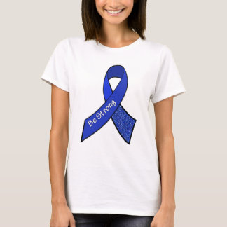 Stay Strong ME/CFS Warrior Blue Awareness Ribbon T-Shirt