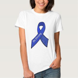 Stay Strong ME/CFS Warrior Blue Awareness Ribbon Tee Shirts