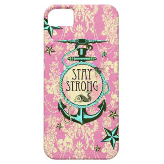 Stay strong nautical anchor art in retro style. case for the iPhone 5