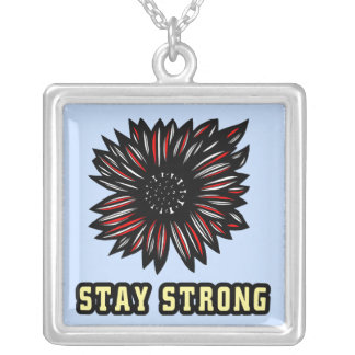 """Stay Strong"" Sterling Silver Necklace"