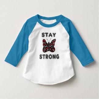 """Stay Strong"" Toddler 3/4 Sleeve Raglan T-Shirt"