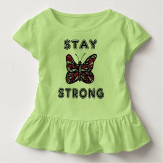 """""""Stay Strong"""" Toddler Ruffle Tee"""