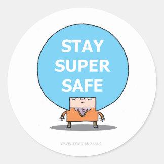 Stay Super Safe Sticker.