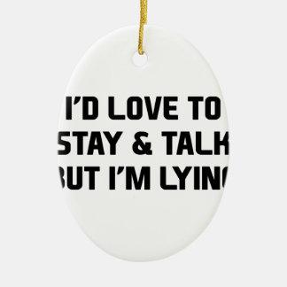 Stay & Talk Ceramic Oval Decoration