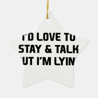 Stay & Talk Ceramic Star Decoration