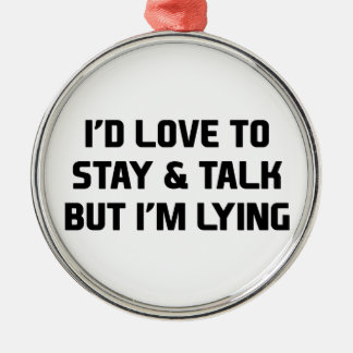 Stay & Talk Silver-Colored Round Decoration