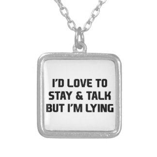 Stay & Talk Silver Plated Necklace