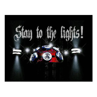 Stay to the Lights Postcard