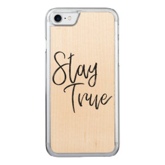 Stay True word art brush effect Carved iPhone 8/7 Case
