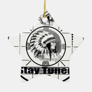 Stay Tuned with Indain Head Test Pattern Ceramic Star Decoration