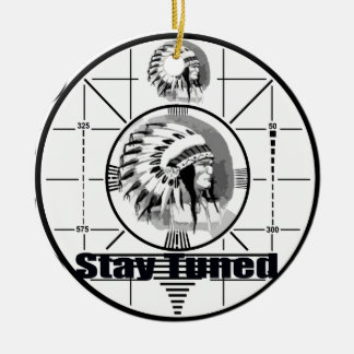 Stay Tuned with Indain Head Test Pattern Round Ceramic Decoration