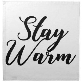 Stay-Warm Napkin