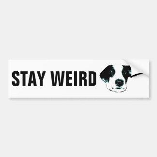 Stay Weird Bumper Stickers