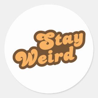 Stay Weird Classic Round Sticker