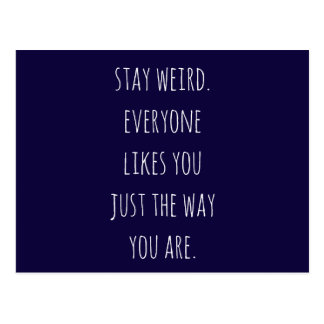 stay weird quote postcard notecard greeting card