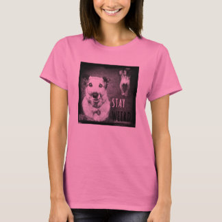 Stay Weird Rescue Dog T-shirt Bubblegum