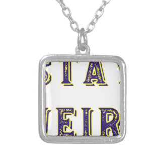 Stay Weird Silver Plated Necklace