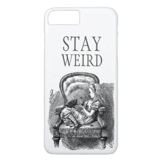 Stay weird vintage Alice in Wonderland kitten cat iPhone 8 Plus/7 Plus Case