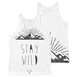 STAY WILD All-Over PRINT TANK TOP