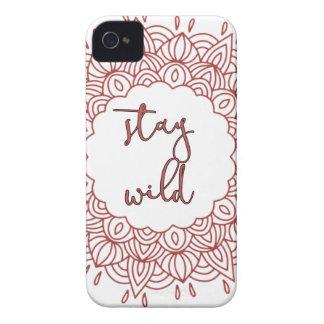 Stay Wild Boho Gypsy Design iPhone 4 Cases