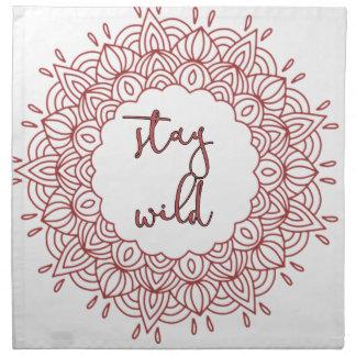 Stay Wild Boho Gypsy Design Napkin
