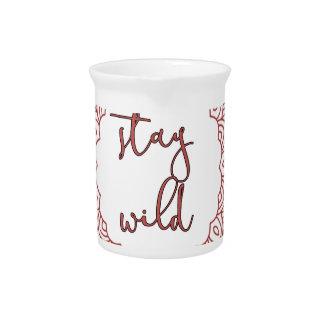 Stay Wild Boho Gypsy Design Pitcher