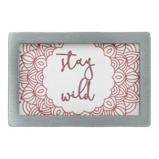 Stay Wild Boho Gypsy Design Rectangular Belt Buckles